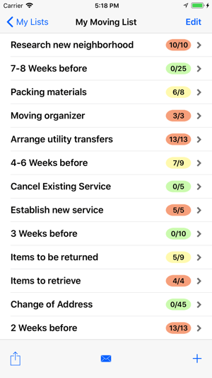 moving checklist pro on