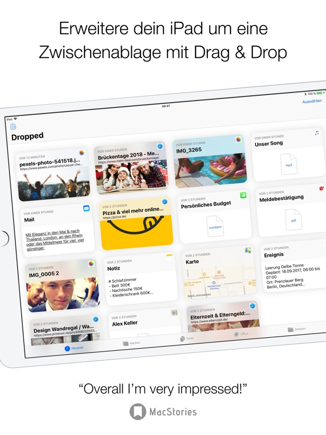 Dropped: Drag & Drop Clipboard Screenshot