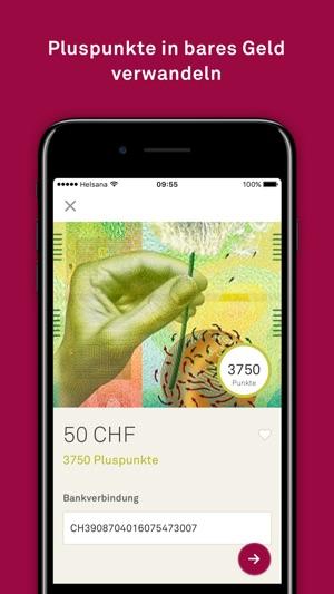Helsana+ Bonusprogramm Screenshot