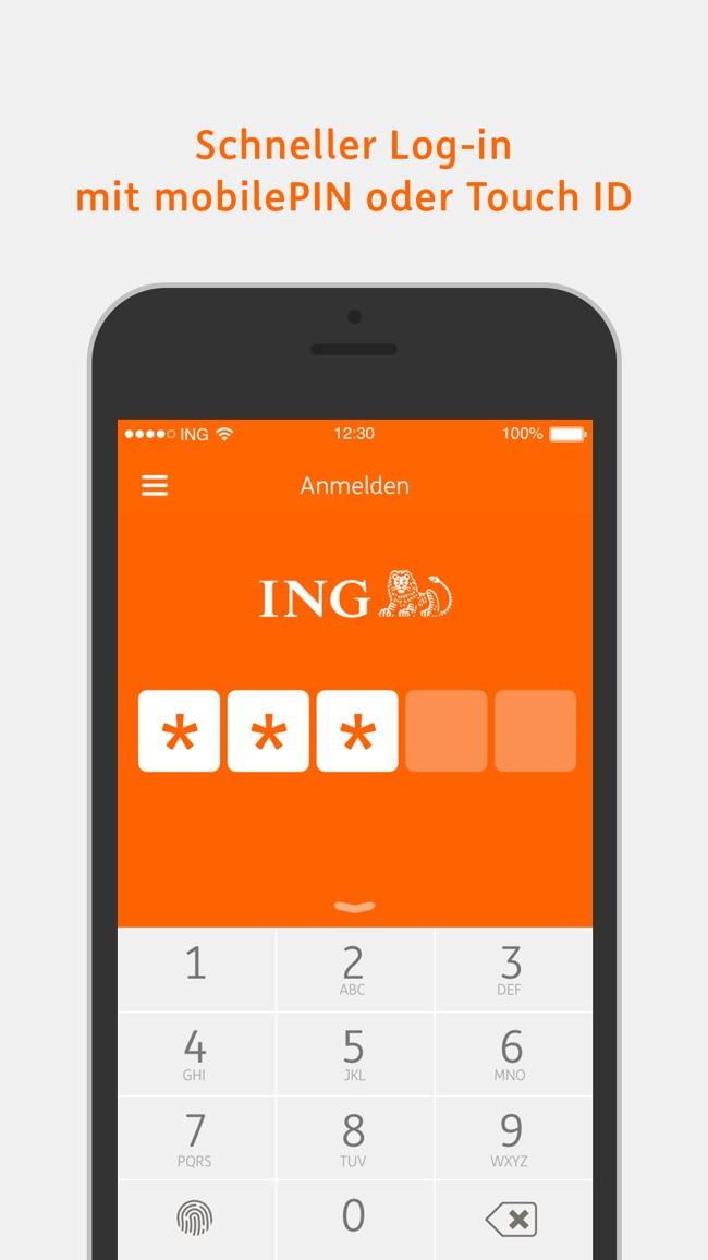 ING-DiBa Banking to go Screenshot