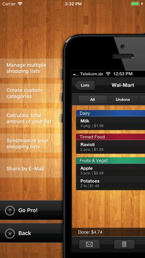 ShopList (Grocery List) Screenshot