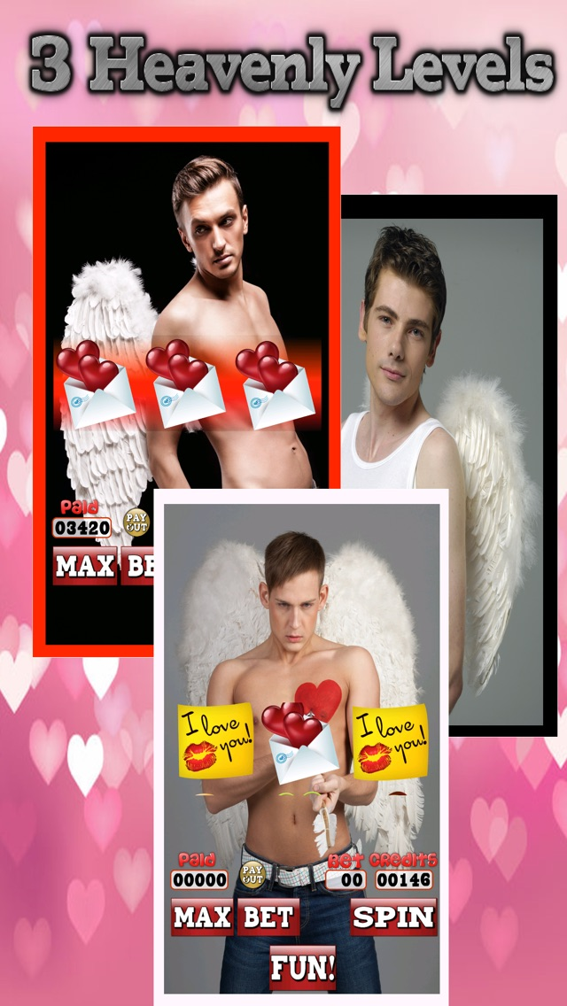 Amour Angel Slots: Sex-y Hot Guy Casino Games for Valentines Day 2014 1.1 IOS