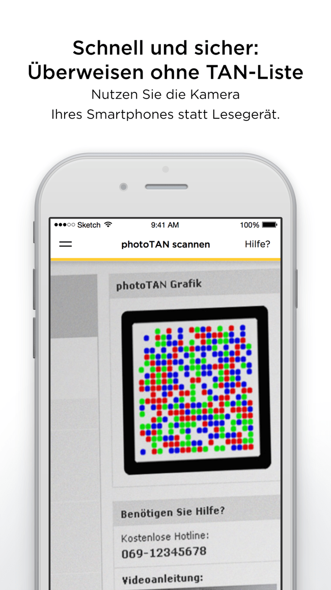 Commerzbank photoTAN Screenshot