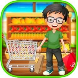 supermarket shopping boy grocery mall summer game register cash fun beach