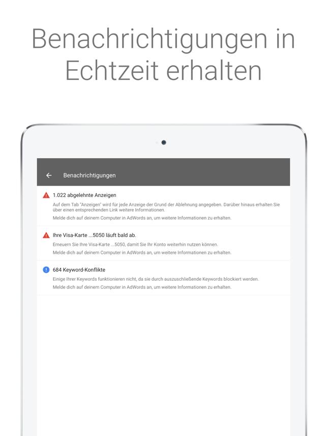 Google AdWords Screenshot