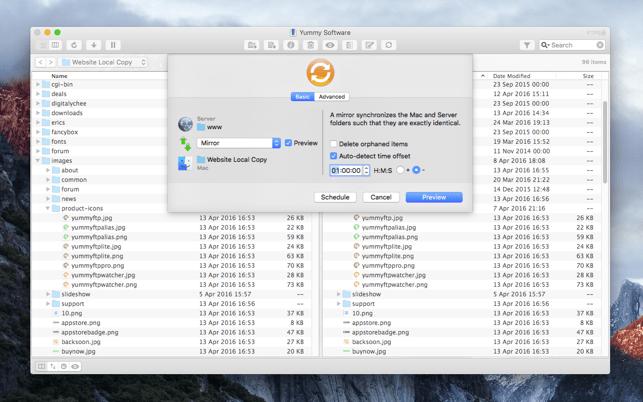 Yummy FTP Pro Screenshot