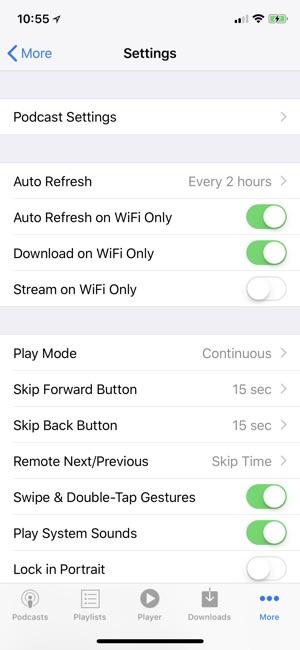 PodCruncher Podcast Player Screenshot