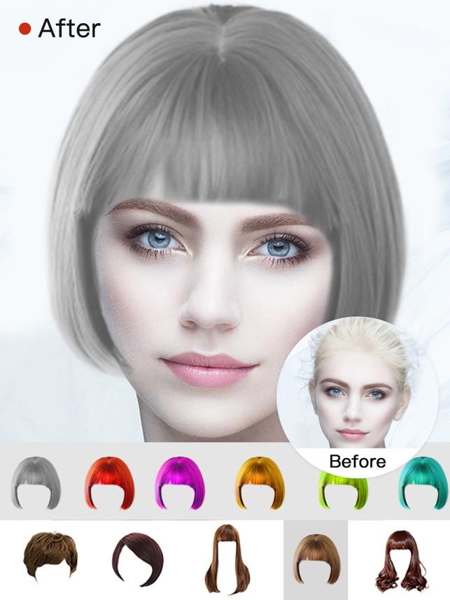 Hair Style Salon&Color Changer Screenshot