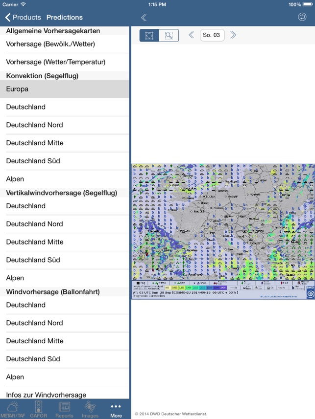 Flugwetter Screenshot