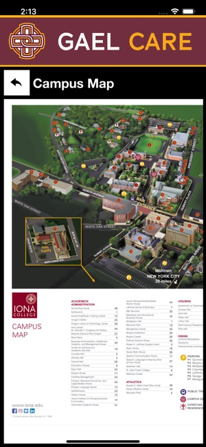 Iona College Map : college, Store
