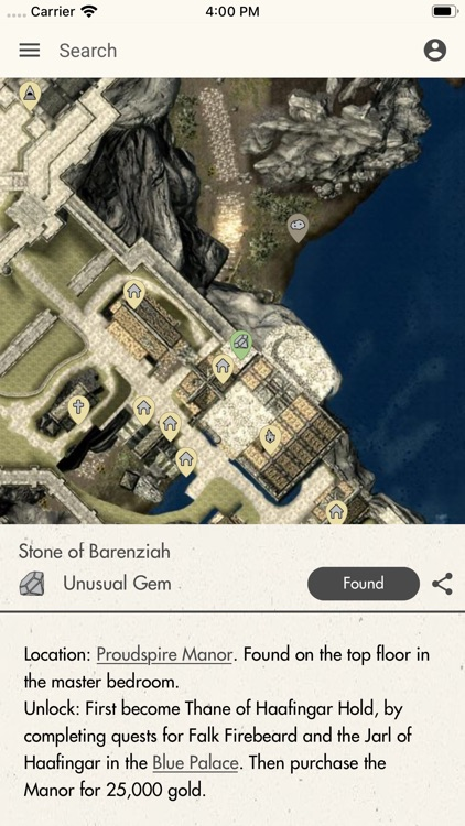 Stones Of Barenziah Map : stones, barenziah, MapGenie:, TES:V, Digitech