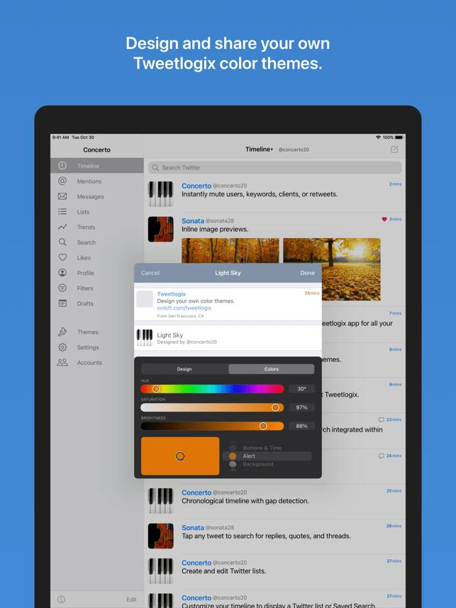 Tweetlogix for Twitter Screenshot