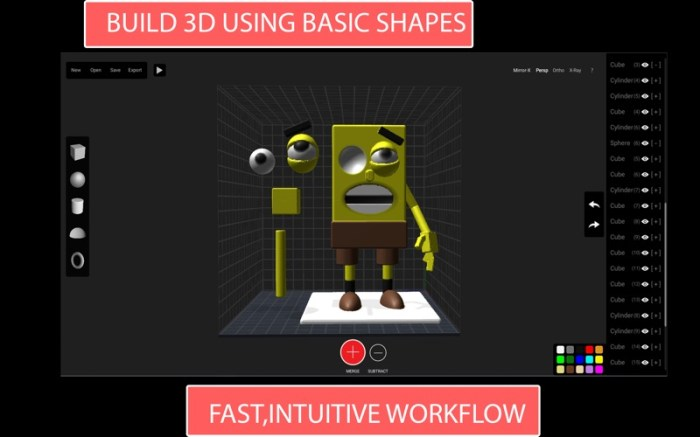 Claydo:Easy 3D Modelling Screenshot 01 57tpe1n