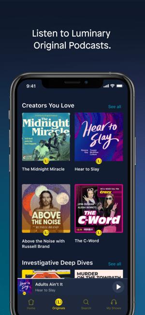 Luminary - Podcast App Screenshot