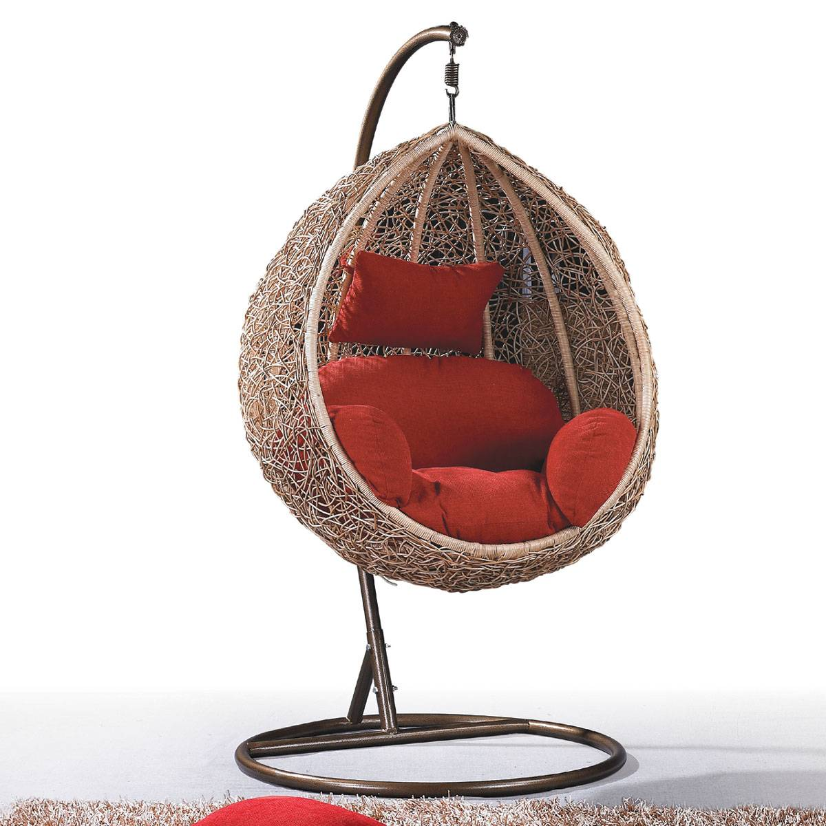 Rattan Swing Chair Egg Chair Outdoor Rattan Wicker Hanging Egg Chair Foshan Nanhai