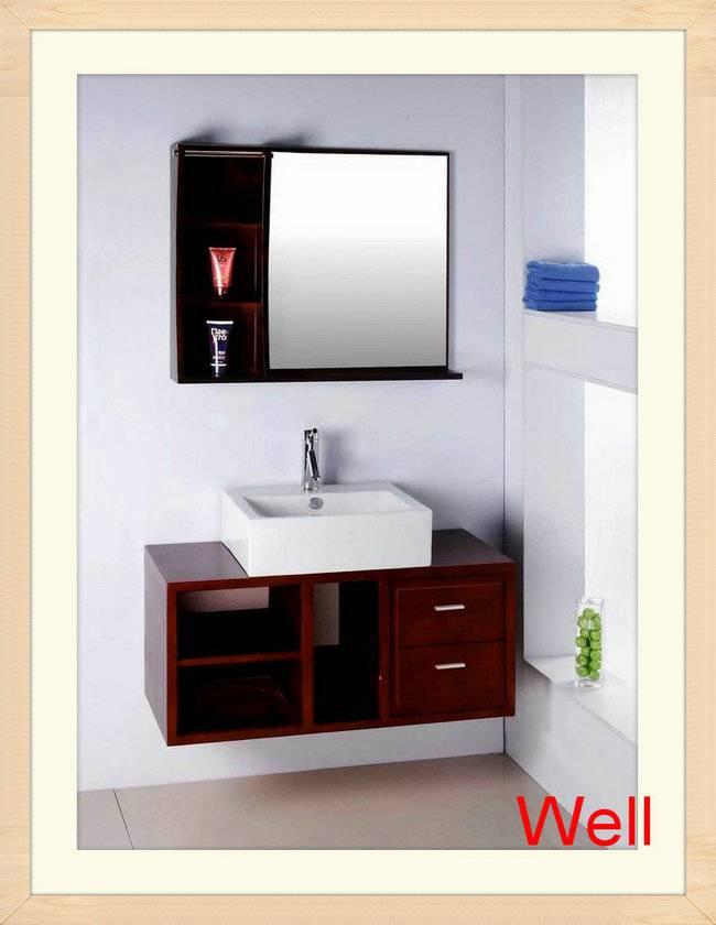 Dark Wood Bathroom Vanity Cabinet 1010 Hangzhou Well Sanitary Ware Co Ltd Ecplaza Net