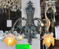 Classic European Style Ceiling Lamp With Copper And Glass ...