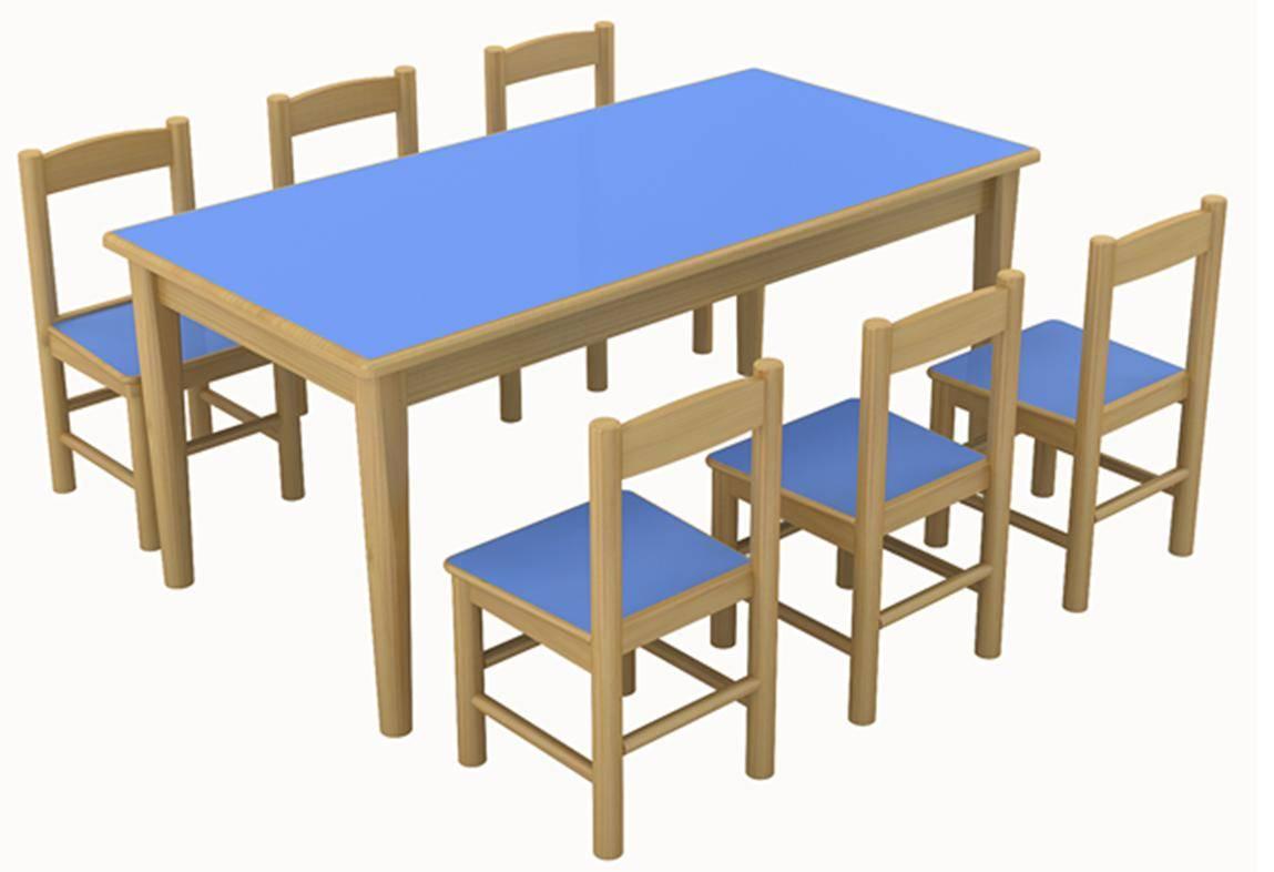 Wooden Kindergarten TableKids Table  Children Table