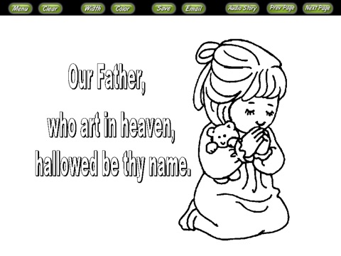 Bible Coloring Stories the Lords Prayer on the App Store