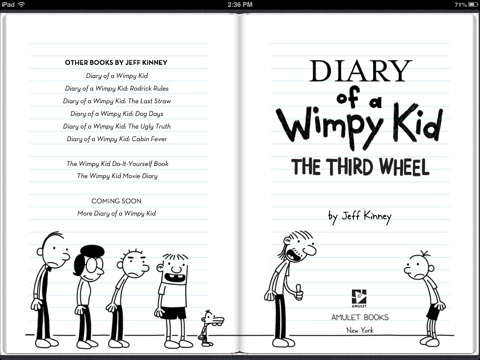 The Third Wheel by Jeff Kinney on iBooks