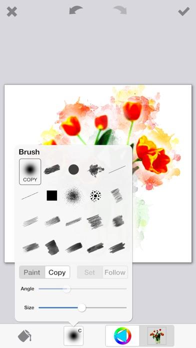 PhotoViva – 写真をブラシで美しい絵画タッチの作品へと変身させる写真編集アプリ Screenshot