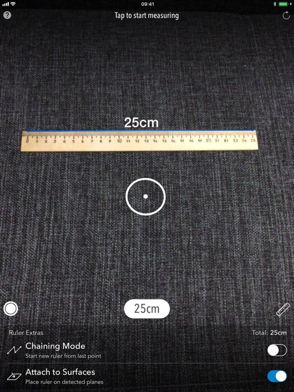 AR MeasureKit Screenshot