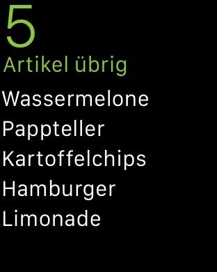 Buy Me a Pie! - Einkaufsliste Screenshot