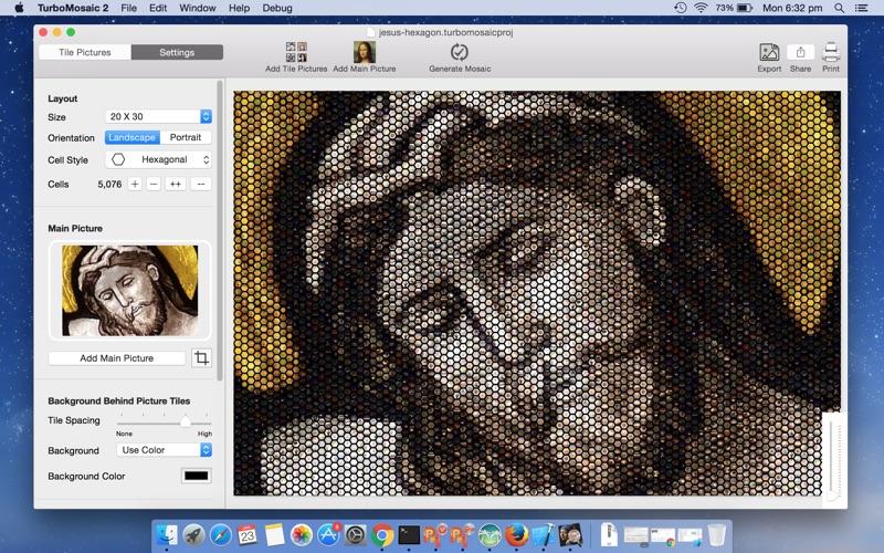 TurboMosaic Mac 破解版 马赛克图片制作工具