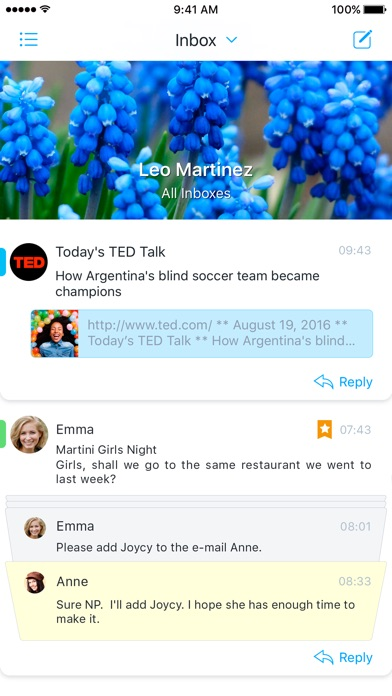Screenshot do app Flow - tames your mobile inbox