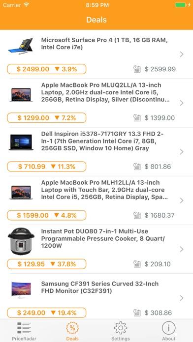 PriceRadar Screenshot