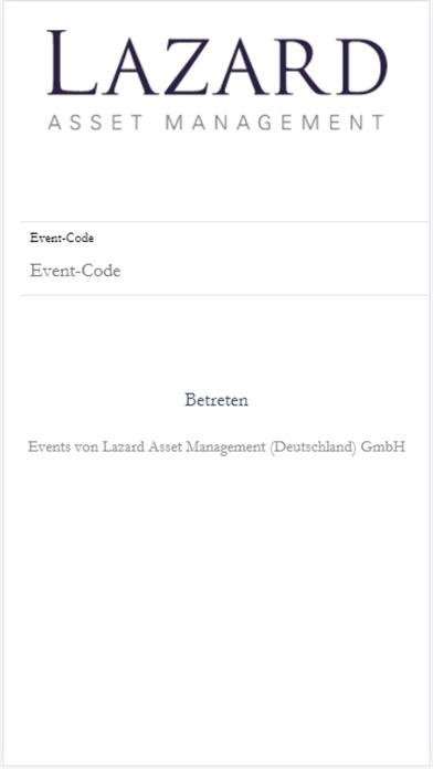 LAM Event App 通过 Lazard Asset Management (Deutschland) GmbH