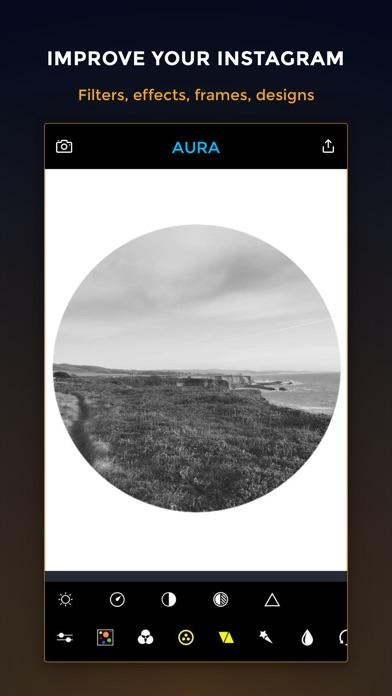 AURA - Camera Photo Editor: Filters, Frames & Text For Instagram. Screenshot