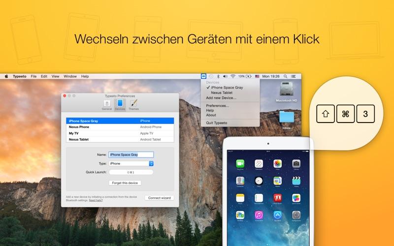 Typeeto: Remote-Bluetooth-Tastatur in voller Größe Screenshot