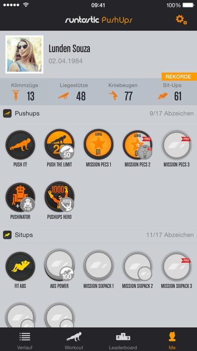 Runtastic Push-Ups PRO Trainer Screenshot