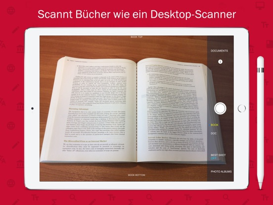 BookScanner Pro: Smart Buch Scanner App mit OCR Screenshot