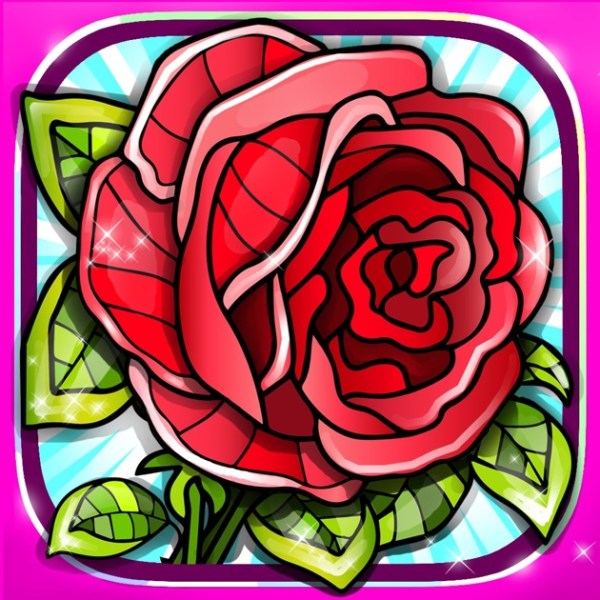 Flowers Colouring Pages Red Rose Mandala Fun Games on the