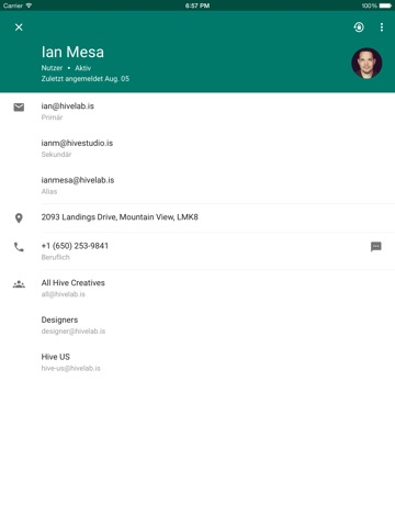 Google Admin-Konsole Screenshot