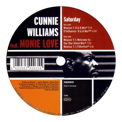 Saturday (Mousse T.'s Welcome To The Star Hotel Mix) - Cunnie Williams Feat. Monie Love mp3 download