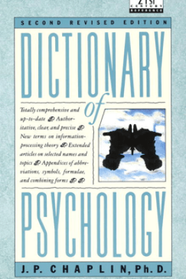 Dictionary of Psychology - J.P. Chaplin