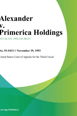 Alexander V. Primerica Holdings - United States Court of Appeals for the Third Circuit