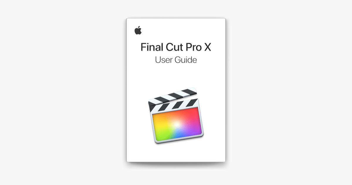 Final Cut Pro X User Guide on Apple Books
