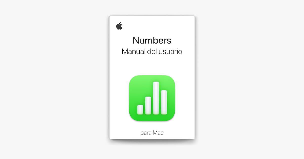 Manual de uso de Numbers para Mac en Apple Books