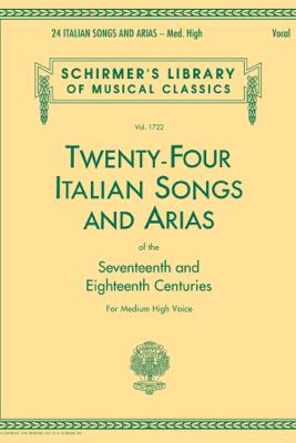 24 Italian Songs & Arias - Medium High Voice (Book only) - Various Authors