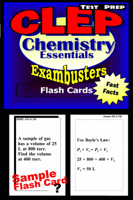 CLEP Chemistry Test Prep Review--Exambusters Flash Cards - CLEP Exambusters