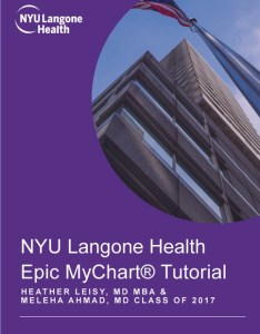 Nyu langone health epic mychart tutorial by heather leisy md mba  meleha ahmad class of on ibooks also rh itunesle
