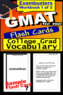 GMAT Test Prep Advanced Vocabulary Review--Exambusters Flash Cards--Workbook 1 of 2 - GMAT Exambusters