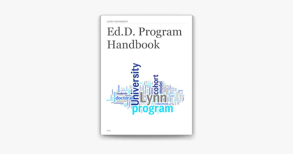 Ed.D. Program Handbook on Apple Books