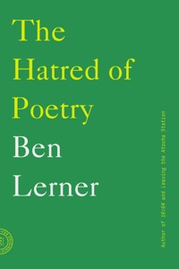 The Hatred of Poetry - Ben Lerner pdf download
