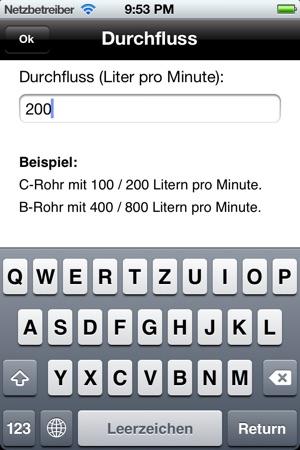 Schaumrechner Screenshot