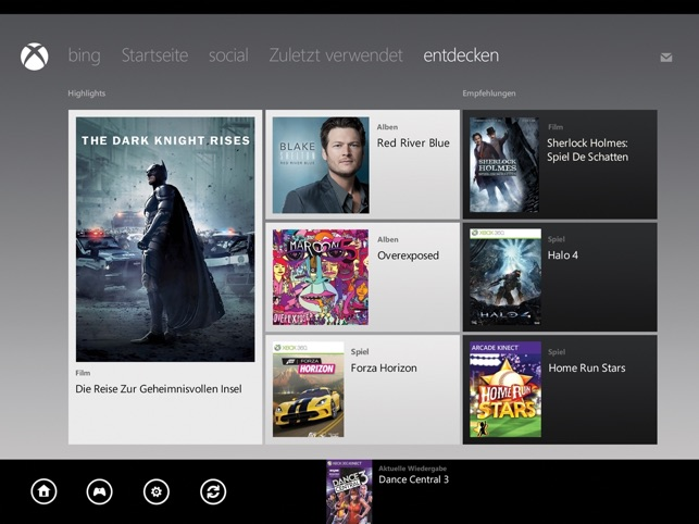 Xbox 360 SmartGlass Screenshot